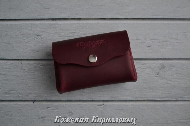 Бордовый кошелек Пухляш