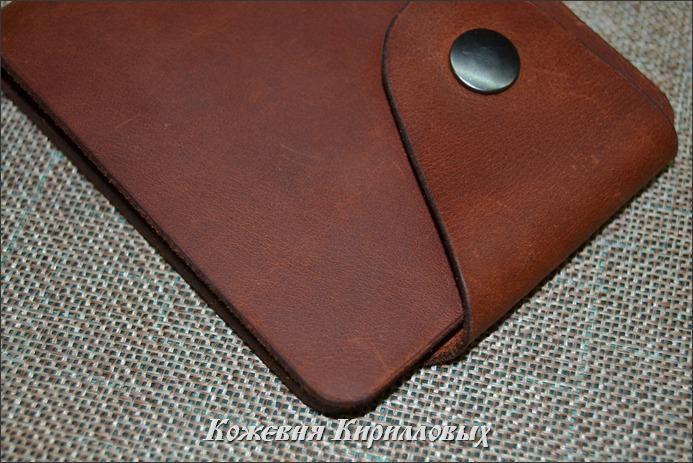 Зажим портмоне из натуральной кожи КХ